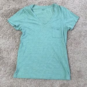 Light green pocket t shirt